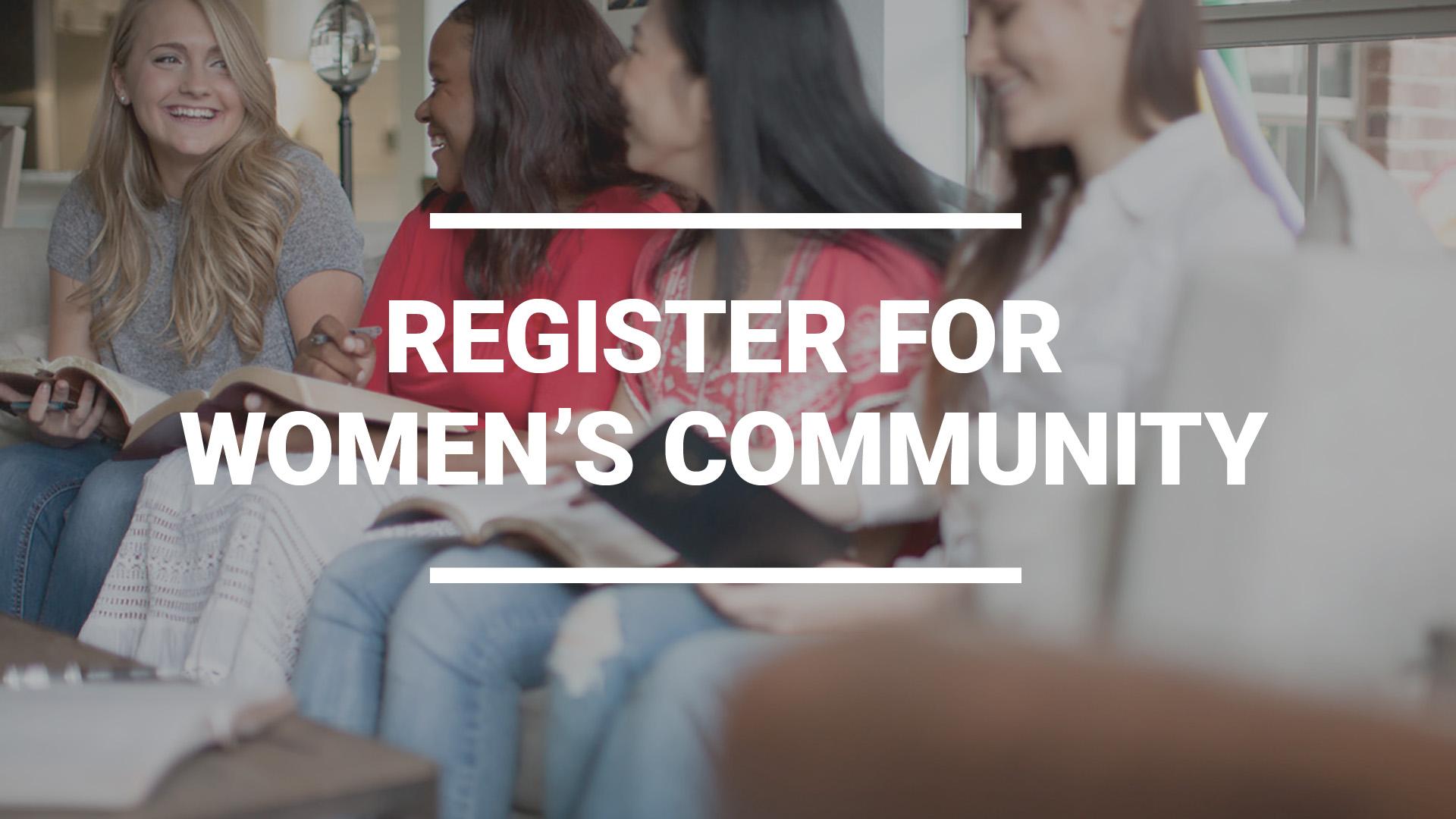 Register for Women's Community